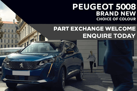 Peugeot 5008 SUV - Only £348 A Month With A £3,000 Deposit