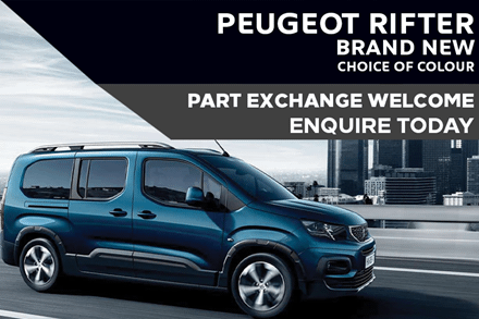 Peugeot Rifter - Only £317 A Month With £317 Deposit
