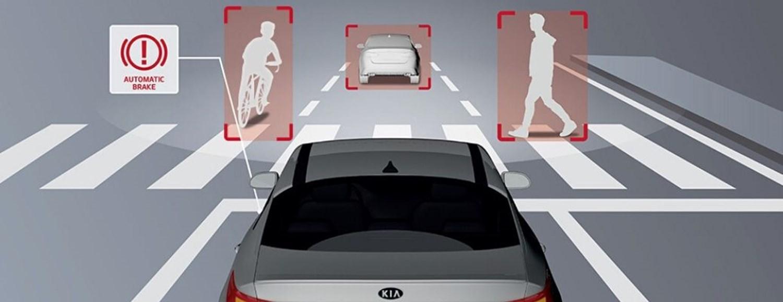 Forward collision avoidance graphic