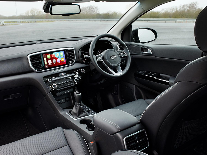 Interior view of a Kia Sportage black edition