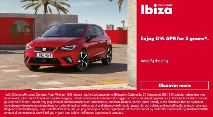 SEAT Ibiza with 0% APR