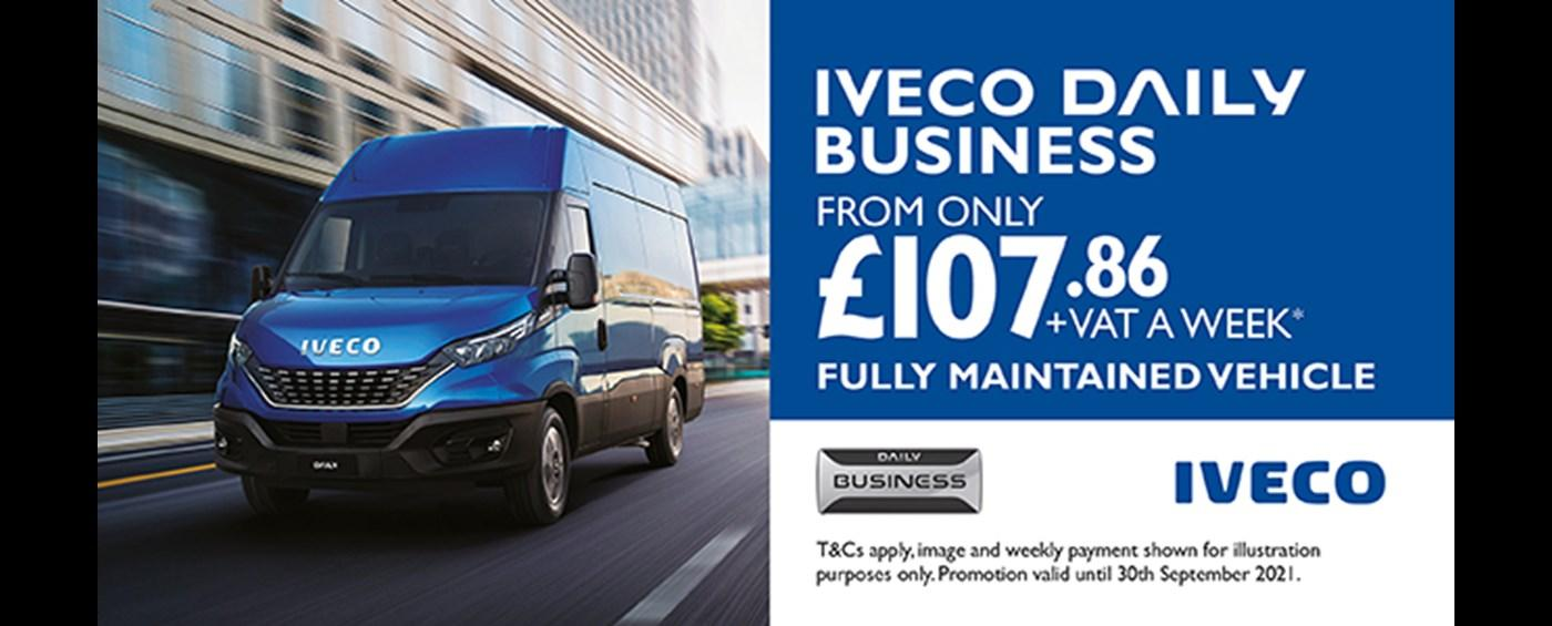 IVECO Daily Business - Fully Maintained - From only £107.86 Per Week