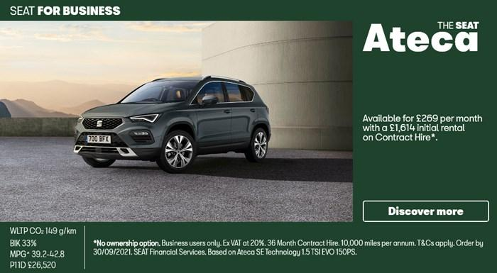SEAT Ateca from £269 per month for Business Users