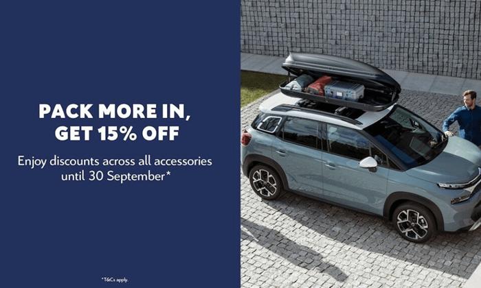 15% Off Citroen Accessories