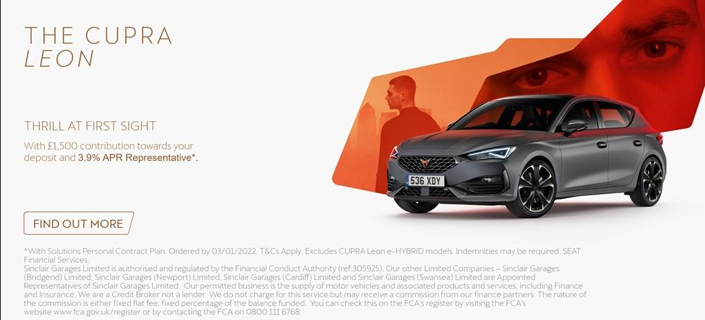Cupra Leon New Car Offer Banner