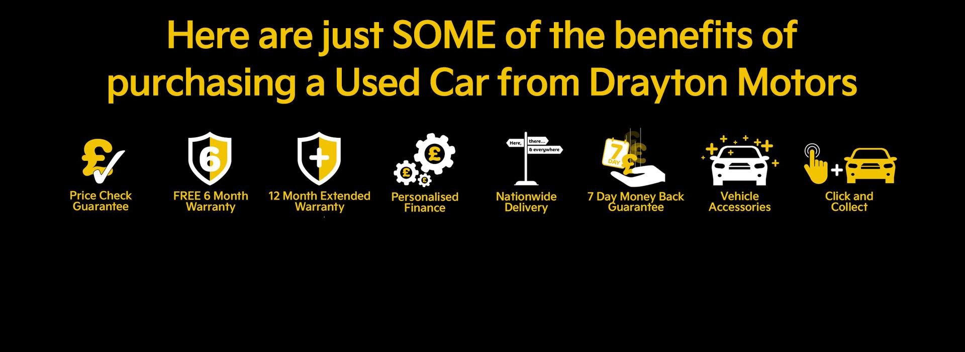 A few reasons why to buy a Used car from Drayton Motors