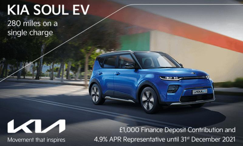 Kia Soul EV with up to £1000 deposit contribution