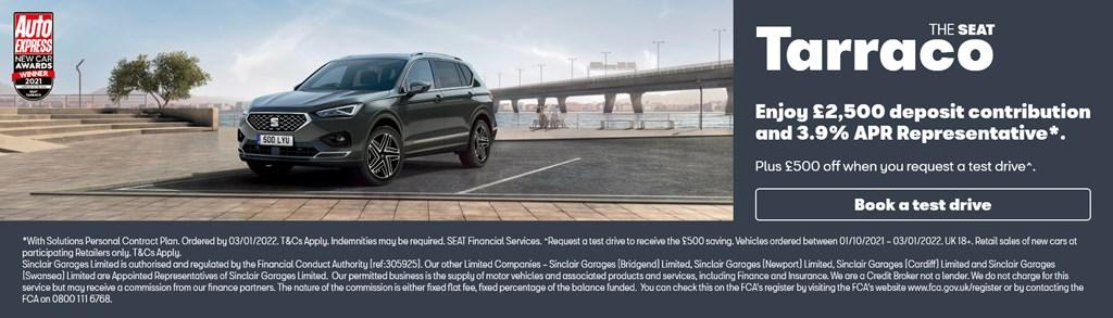New SEAT Tarraco Solutions PCP Offer