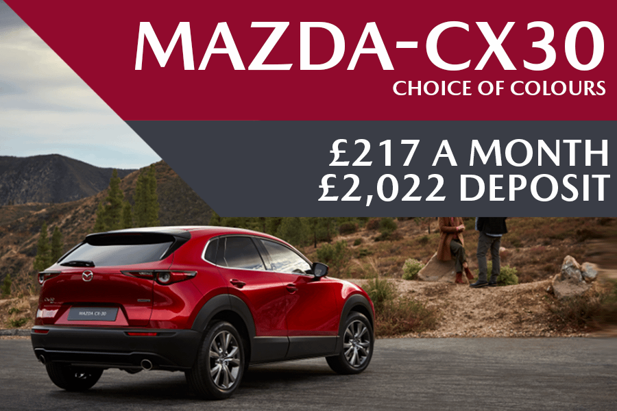 All-New Mazda CX-30 - Now Available For £217 A Month With £2,022 Deposit And 0% Finance Available