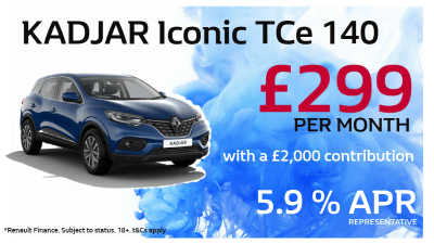 Renault KADJAR Iconic Offer from £299