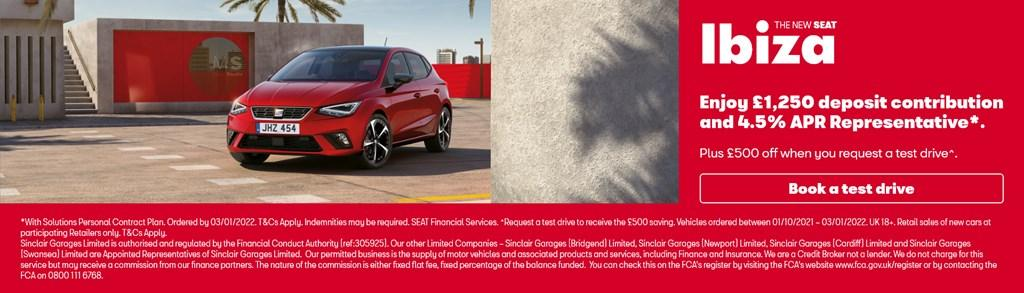 New SEAT Ibiza Solutions PCP Offer