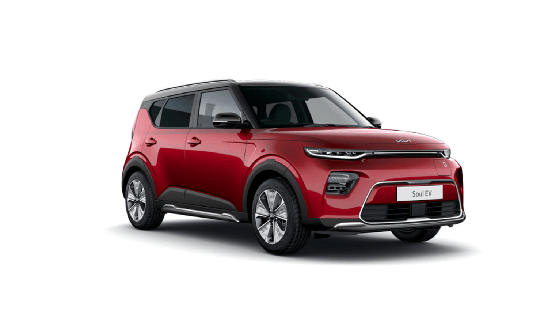 Kia Soul EV Maxx in Cherry Red
