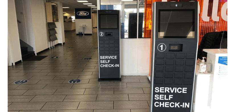 Digital service check in