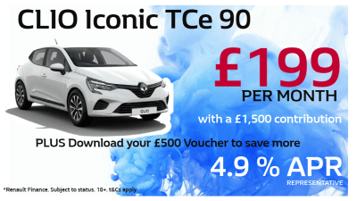 Renault Clio Iconic Offer from £199 pcm