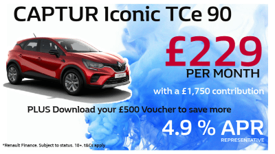 Renault Captur Iconic Offer from £229 pcm